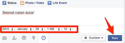 Menjadwalkan postingan facebook (2)
