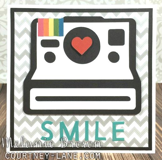 Cricut Artistry Poloaroid smile card