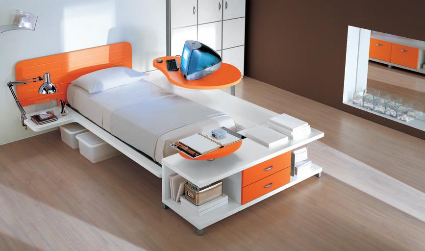 Modern futuristic single bed