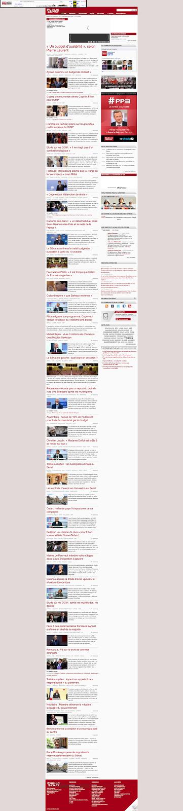 Le fil info Public Sénat en 2012