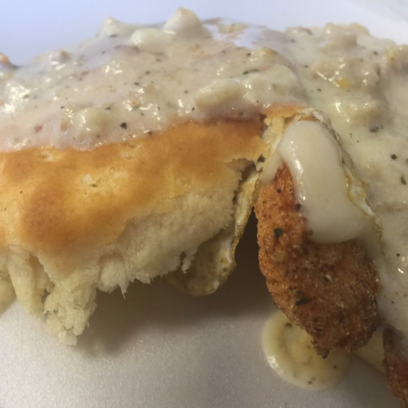 A close look at the State Street Biscuit at Dixie Supply Bakery and Cafe in Charleston
