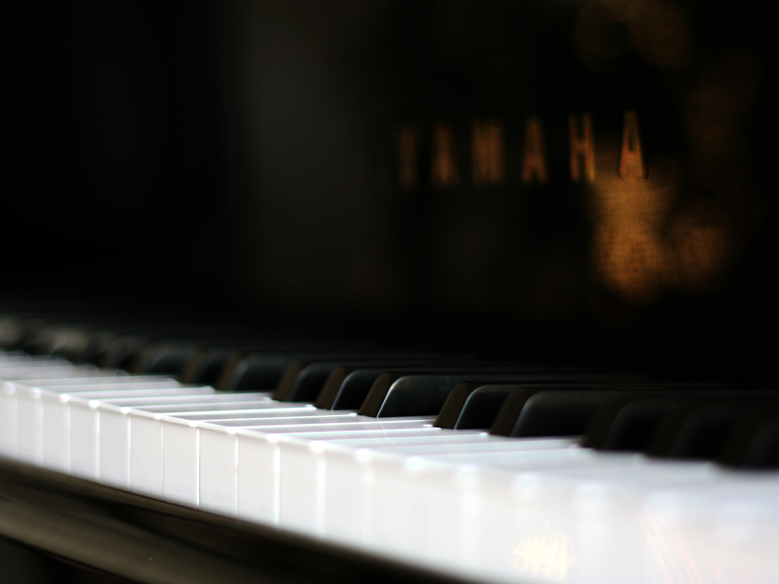 Yamaha piano keyboard close up blurred hd wallpaper