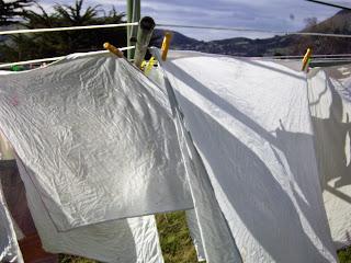 White cotton flat nappies