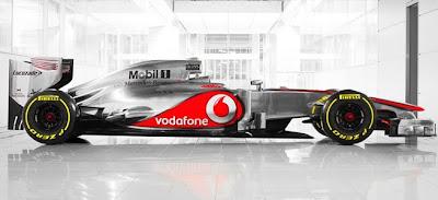 Carro da F1 MP4-27 McLaren