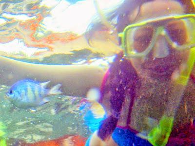 Trisha Sebastian snorkeling in Isla Pandan Day Resort Puerto Princesa Palawan