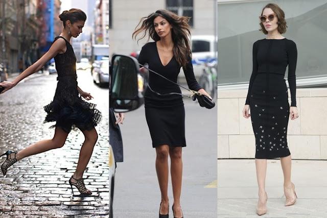 Dù là váy liền thân ôm dáng hay váy chữ A đắp ren, váy đen luôn tạo ra vẻ bí ẩn, lạnh lùng và có chút quyền lực, khiến cánh đàn ông tò mò mà ngắm nhìn.