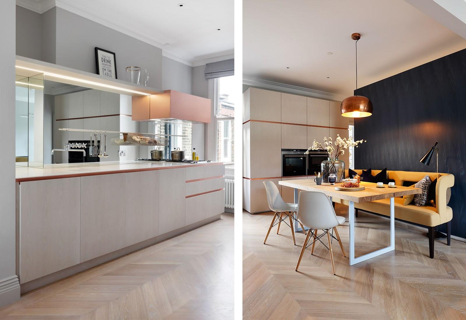 Decorazioni in rame e marmo in questo appartamento di Londra by MWAI ...