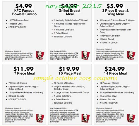 Kfc Coupons Printable