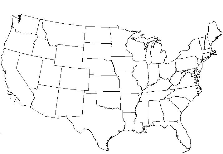 Blank Map Of United States Pdf - Blank us map printable