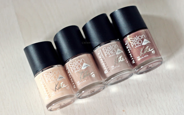 rimmel london salon pro lycra by kate nail polishes swatches opinions review
