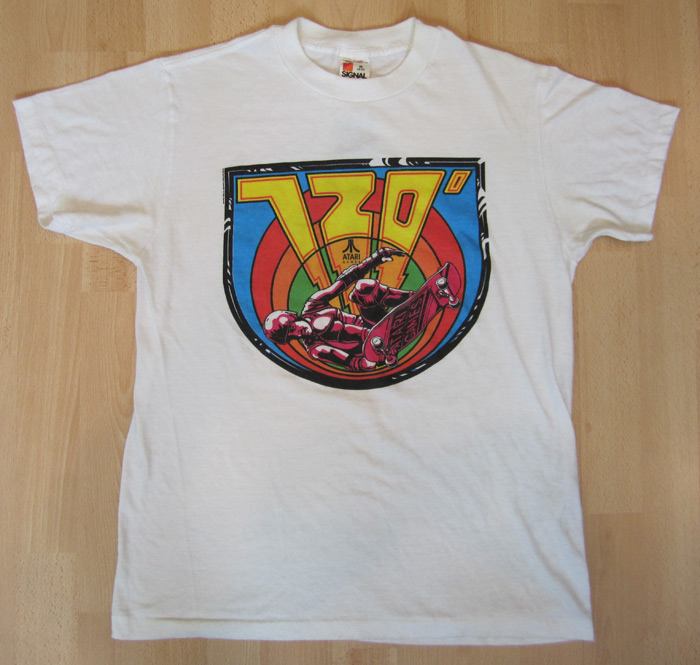 Nostalgia on wheels vintage 1980 39 s atari 720 degrees for Custom t shirts costa mesa