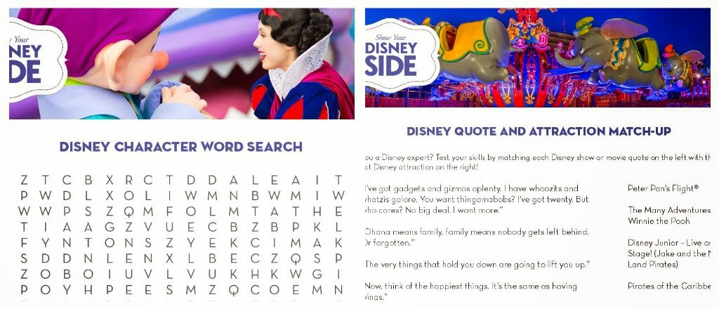 Free Disney Side printable games