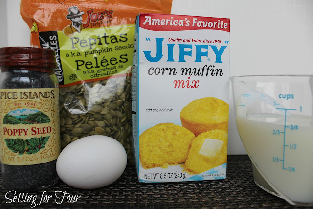 Shortcut Poppyseed Corn Muffins from Setting for Four #Quickrecipes #Recipes #Cornmuffins #Muffins #Corn