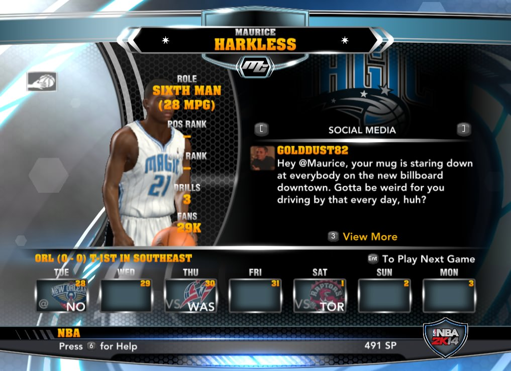 nba 2k14 Maurice Harkless mycareer patch download hoopsvilla