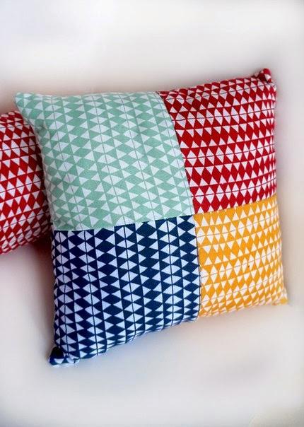 подушка из квадратов