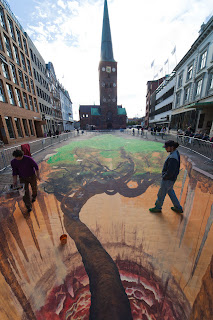 3 D pavement art