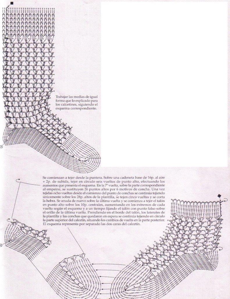 TRICO y CROCHET-madona-mía: Crochet-padron para calcetines/meias de bebe