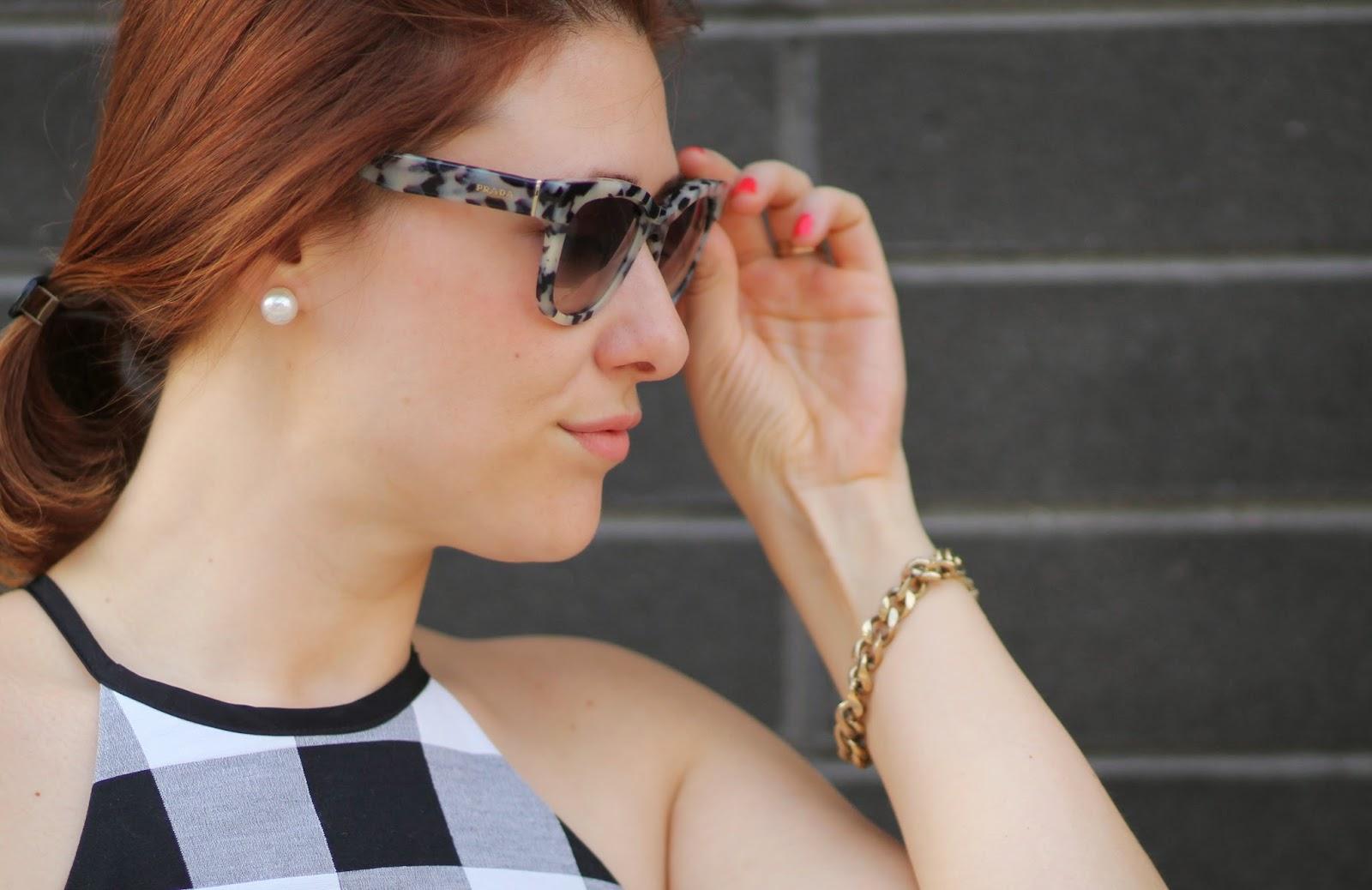 gingham, dress, pearl, earrings, macys