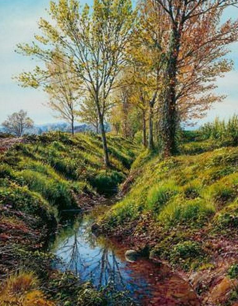 Cuadros modernos cuadros al leo paisajes pintados en for Cuadros pintados al oleo