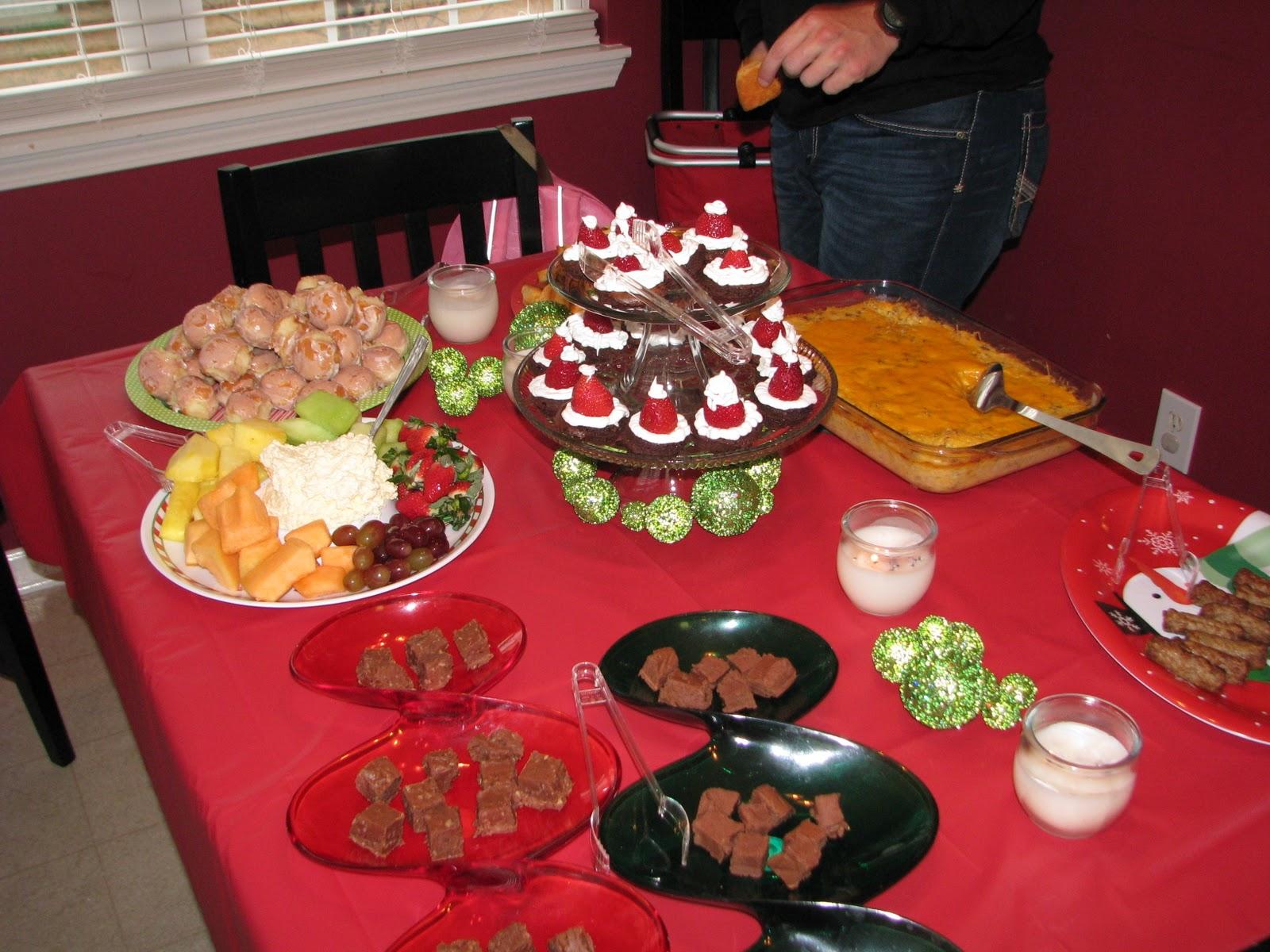 it was a lot of food but o so good can we say diet went - Christmas Eve Snacks