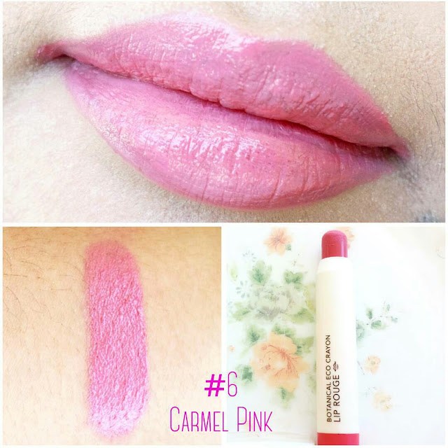 Image of Nature Republic Botanical Lip Crayon Lipstick Swatch - pinknomenal.blogspot.com