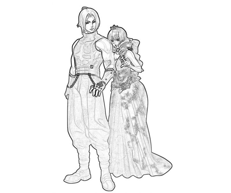 King of Fighters Adelheid Bernstein Couple Coloring Pages title=