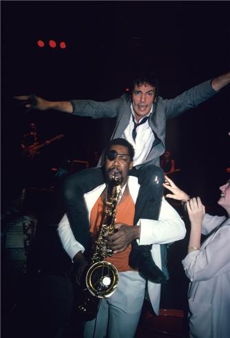 bruce springsteen clarence clemons kiss. In more than three decades wielding his tenor sax with Bruce Springsteen#39;s E