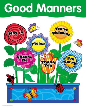 Showing Good Manners Clip Art