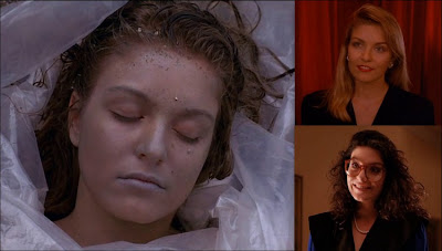 Sheryl Lee as Laura Palmer and her cousin Maddy Ferguson