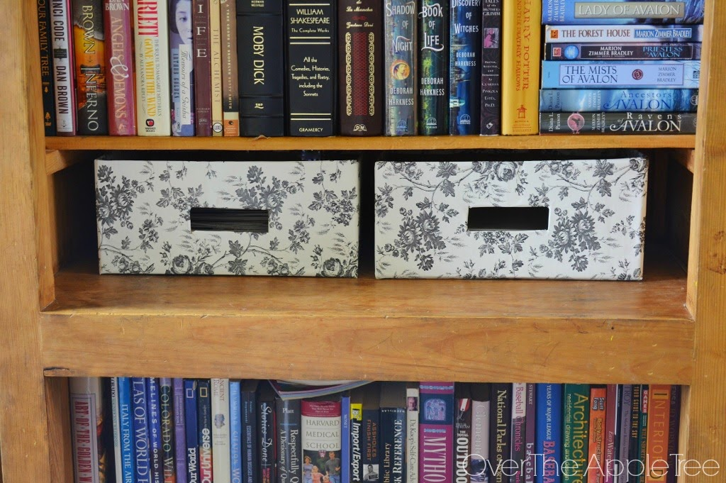 Decorative storage box with contact paper, Over The Apple Tree