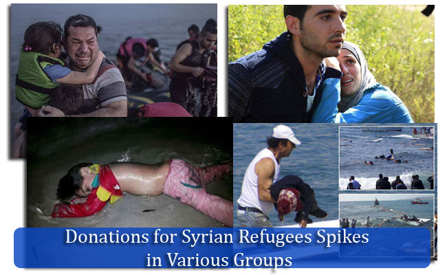 Donations for Syrian Refugees Spikes in Various Groups