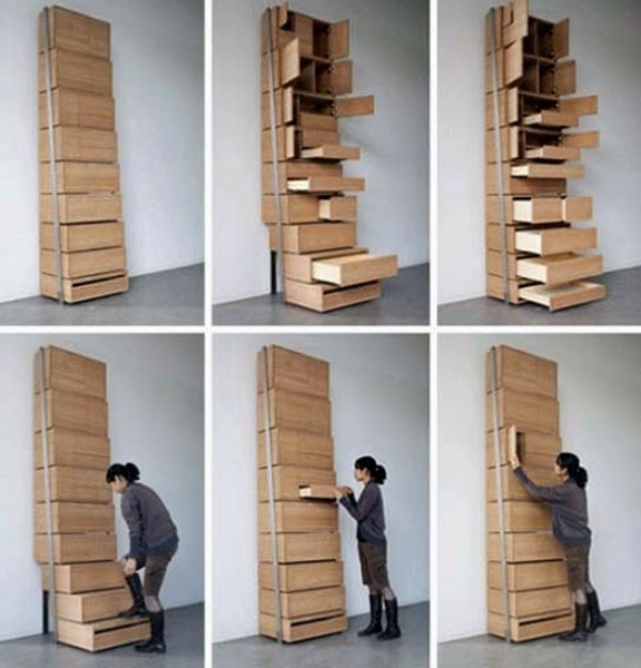 wardrobe staircase storage solution