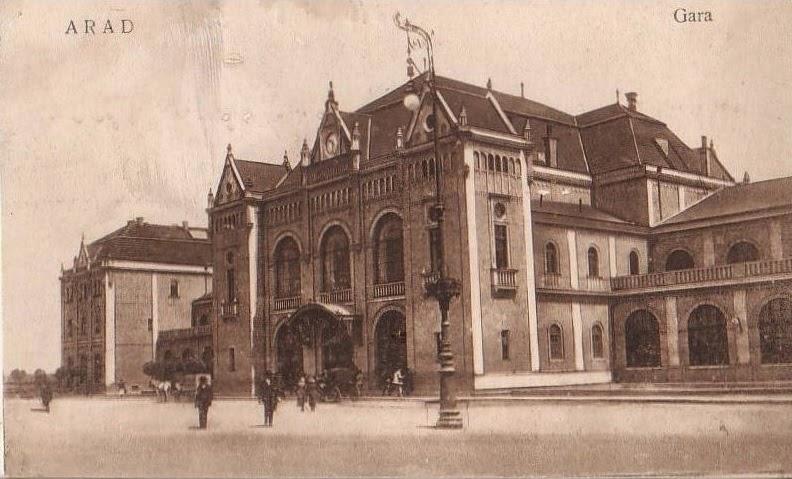 Gara din Aradul de odinioara