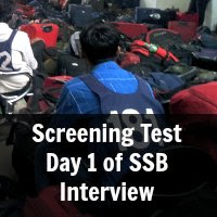 Screening Test Day 1 of SSB Interview