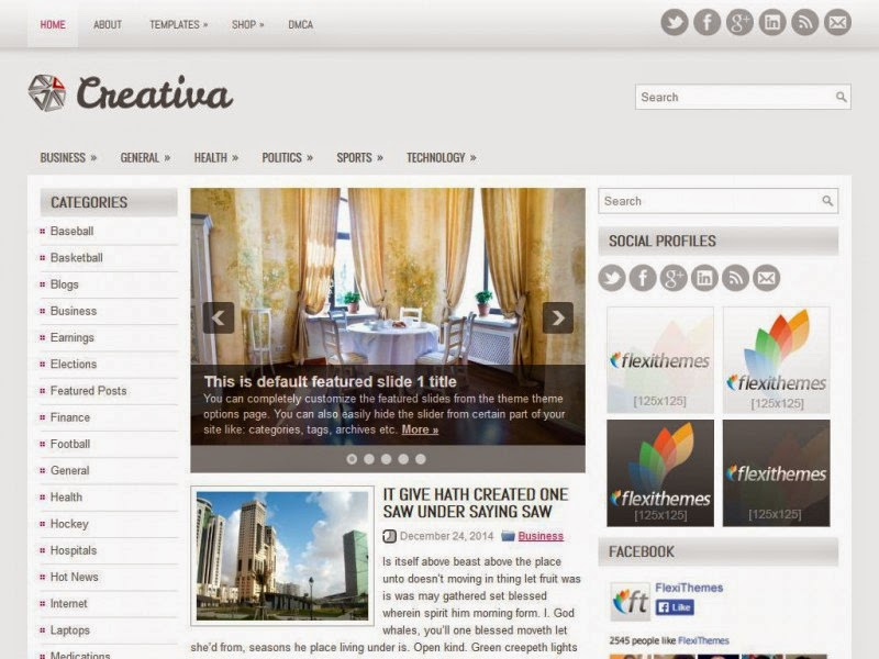 Creativa - Free Wordpress Theme