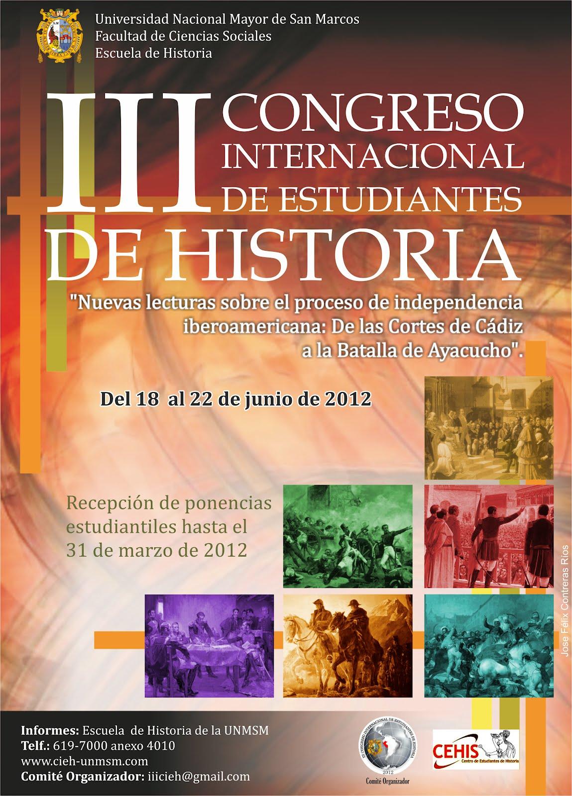 III CONGRESO INTERNACIONAL DE ESTUDIANTES DE HISTORIA
