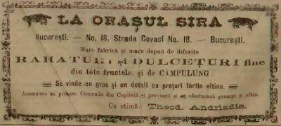 Reclama 1888 rahat si dulceata