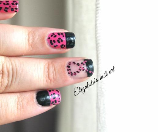 diseño de uñas leopardo rosa