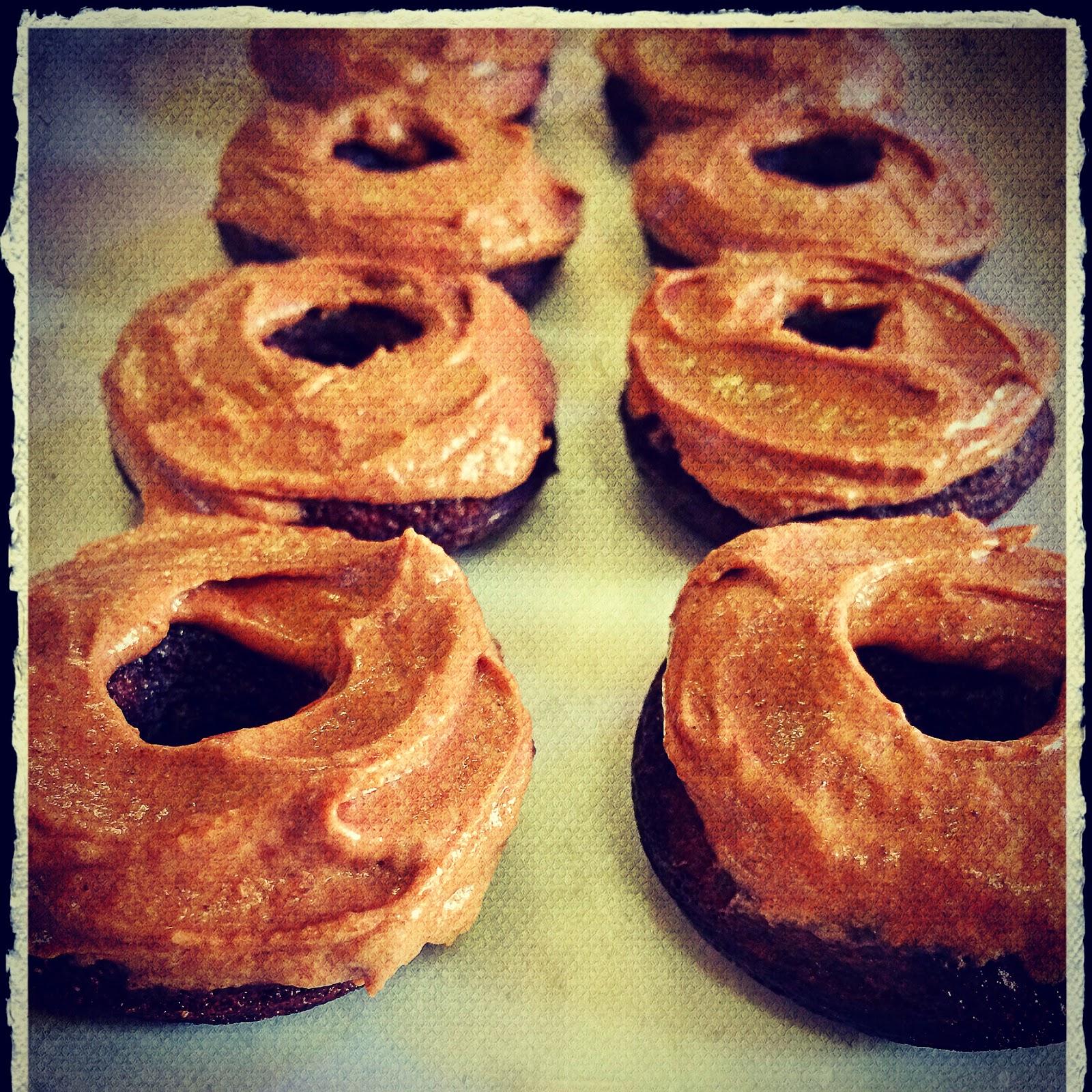 iced choc donuts