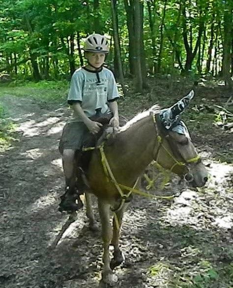 Daniel Ezekiel & Charlie his mule