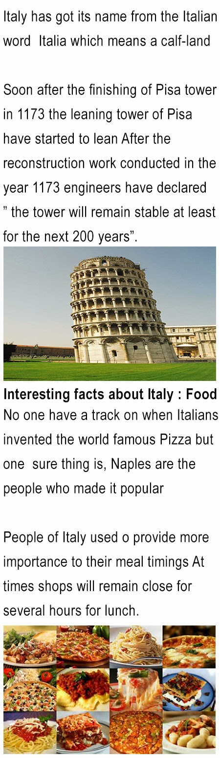 fun facts about Italy for kids