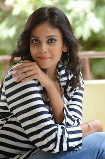 Actress Chandini Latest Pictures in Jeans at Kiraak Release Date Announcement Press Meet 0048