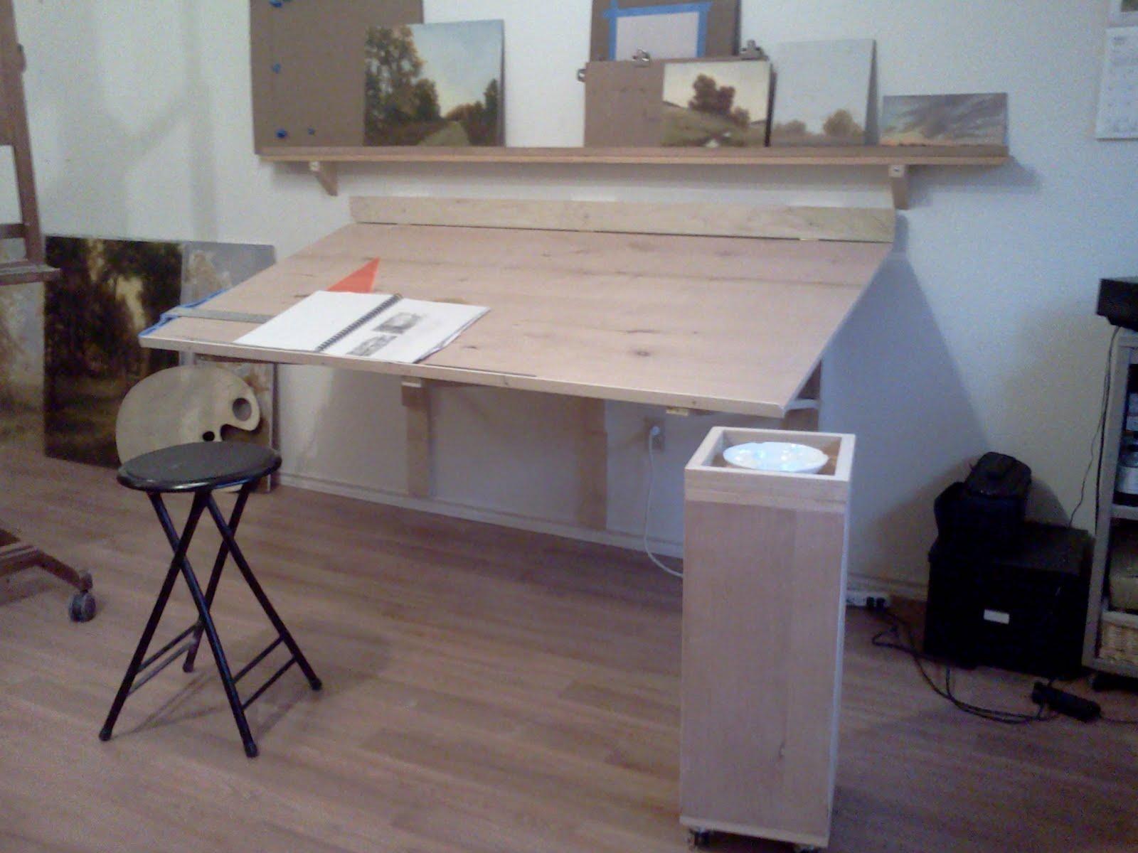 Fold Down Wall Desk Table