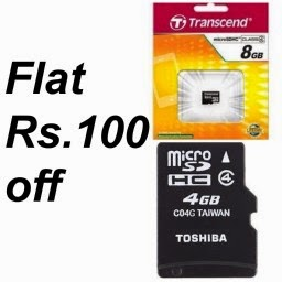 Buy Memory Card 4GB and 8 GB at Lowest Online (Flat Rs. 100 off) at eBay: Buytoearn