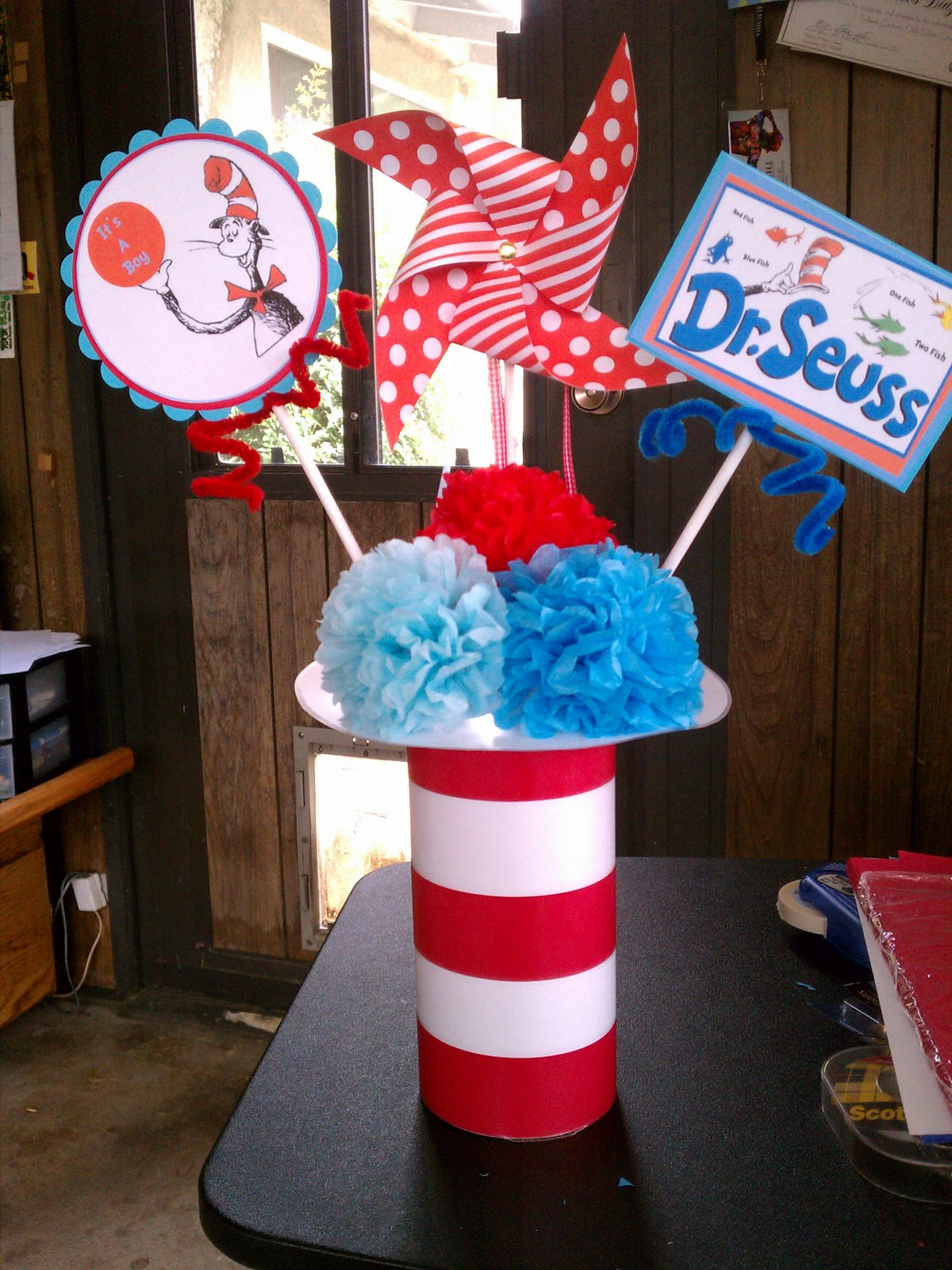 Kc 39 s creations dr seuss baby shower for Baby shop decoration ideas