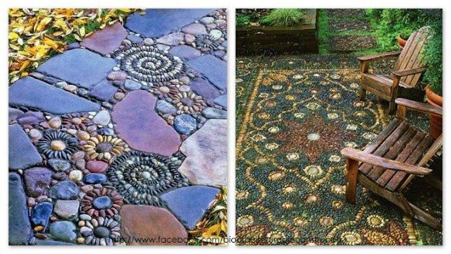 Decoración con piedras de río - interiorismos.com