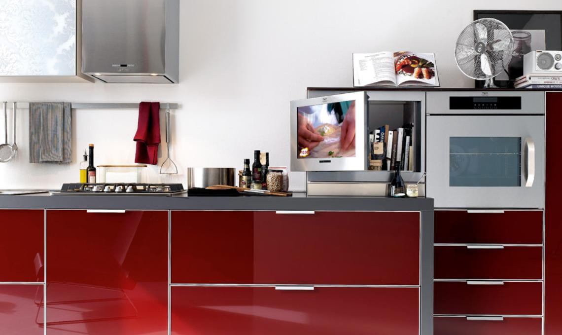 Dise o de cocinas con puertas en cristal - Cocinas de cristal ...