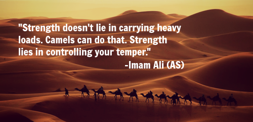 Strength doesn't lie in carrying heavy loads. Camels can do that. Strength lies in controlling your temper.