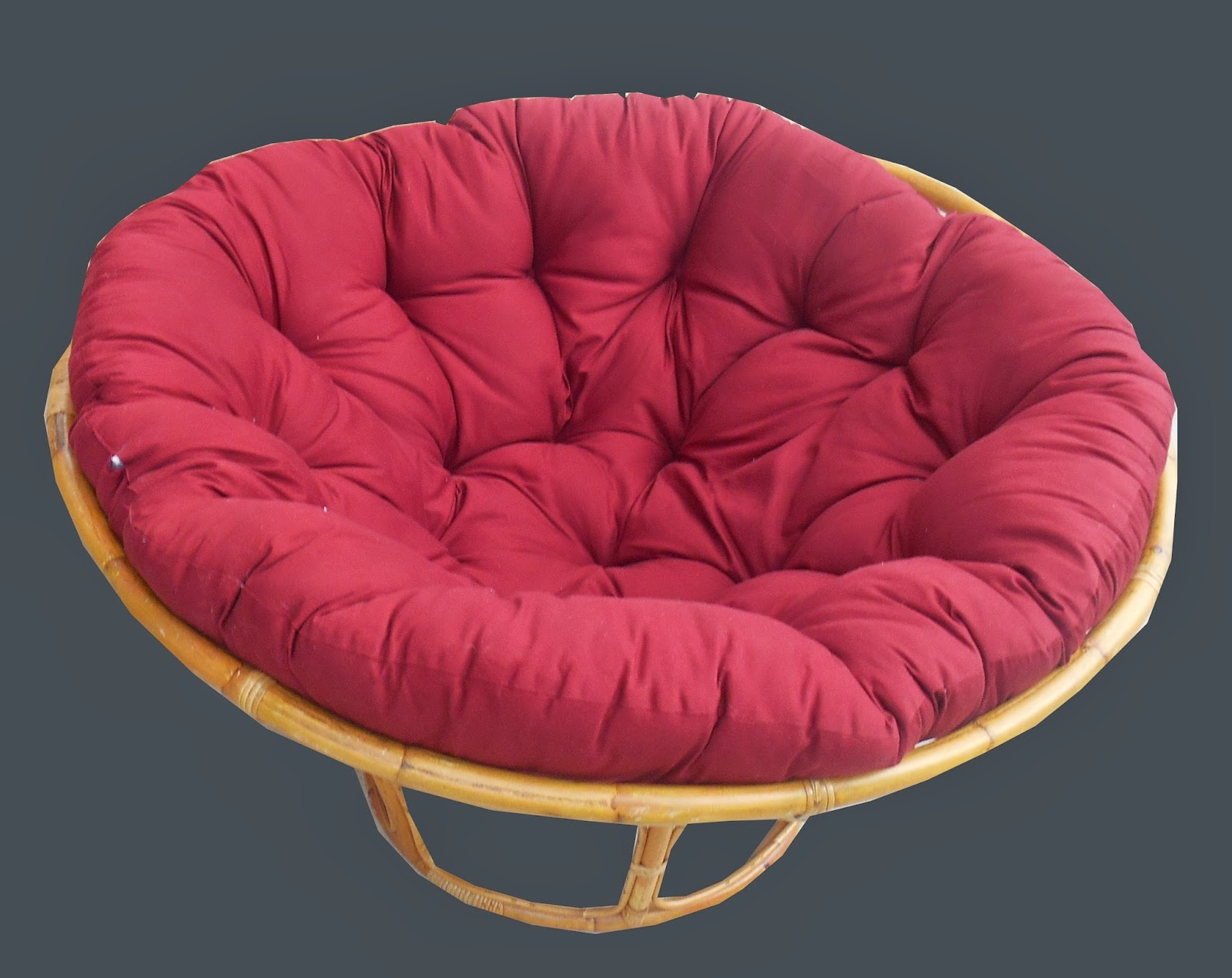 Round Bamboo Frame Futon Chair $55   SOLD