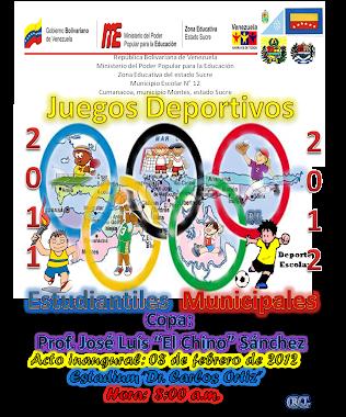 Juegos Deportivos Municipales 8-2-2012